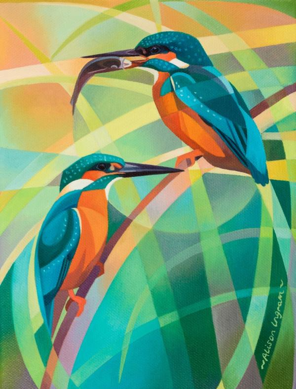 Courting Kingfishers by Alison Ingram