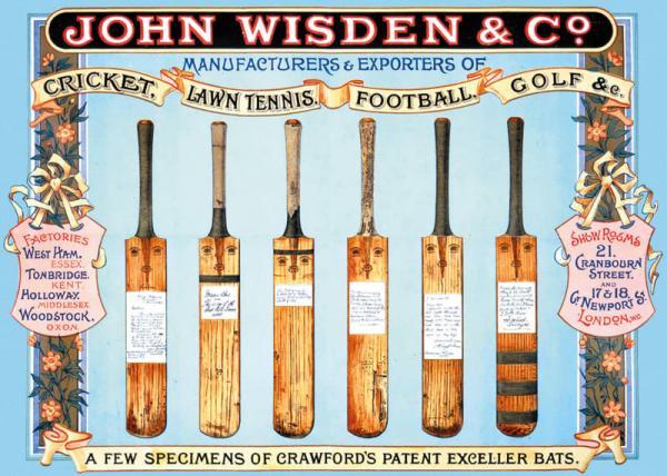 Cricket Bats by John Wisden