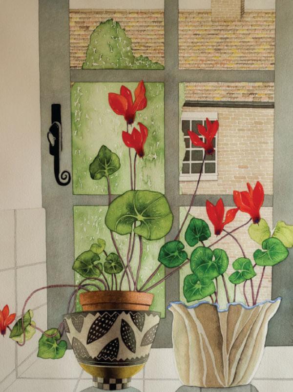 Cyclamen Window by Vera Rosenberry