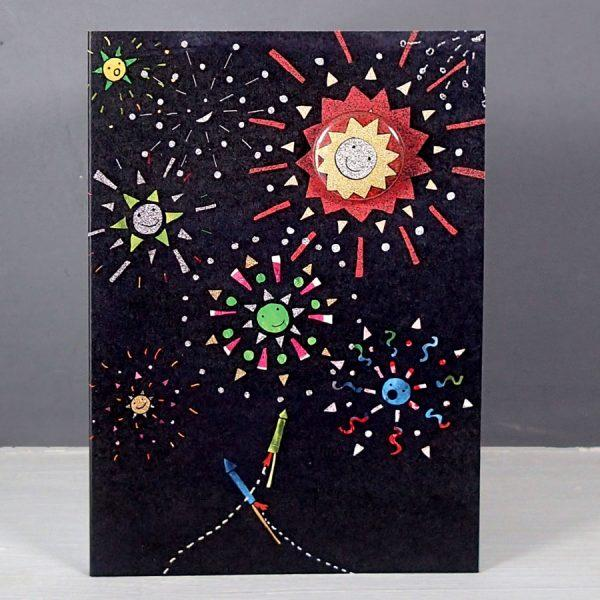 Fireworks Badge Card by Lindsay Marsden