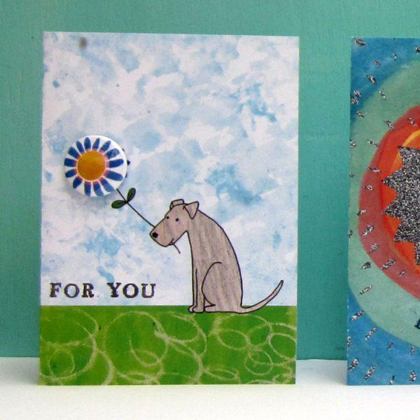 For You - Dog Badge Card by Lindsay Marsden