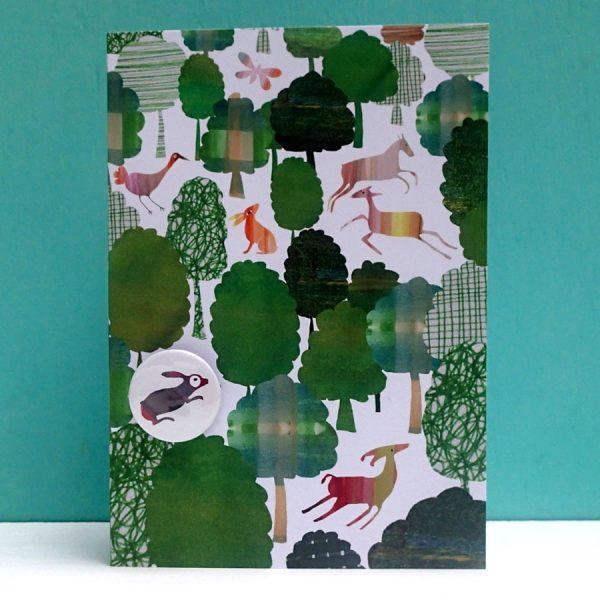Green Woodland Badge Card by Lindsay Marsden