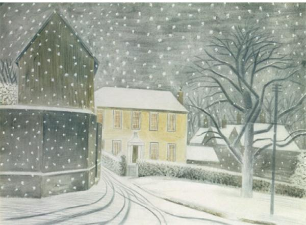 Halstead Road in Snow 1935 by Eric Ravilious