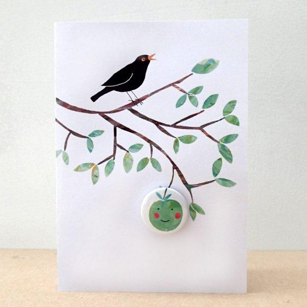 Happy Apple Badge Card by Lindsay Marsden