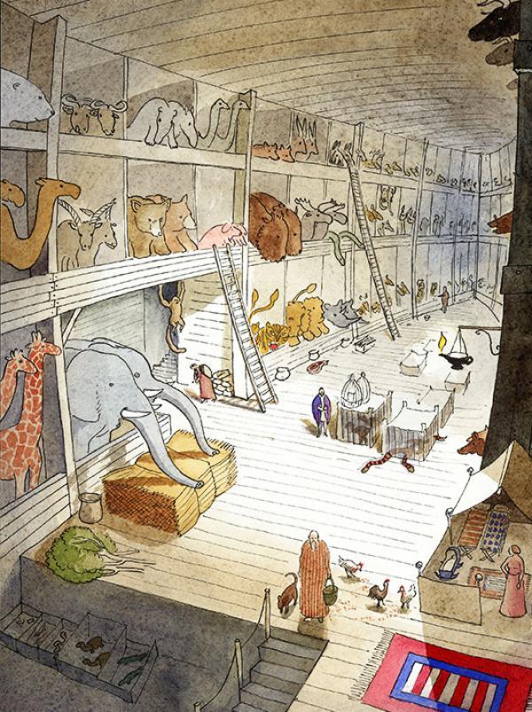 Interior of Noahs Ark by Warwick Hutton