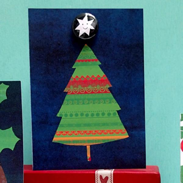 Jolly tree badge card