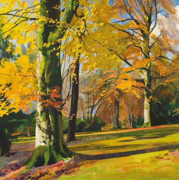 Knightshayes Autumn by Bob Rudd