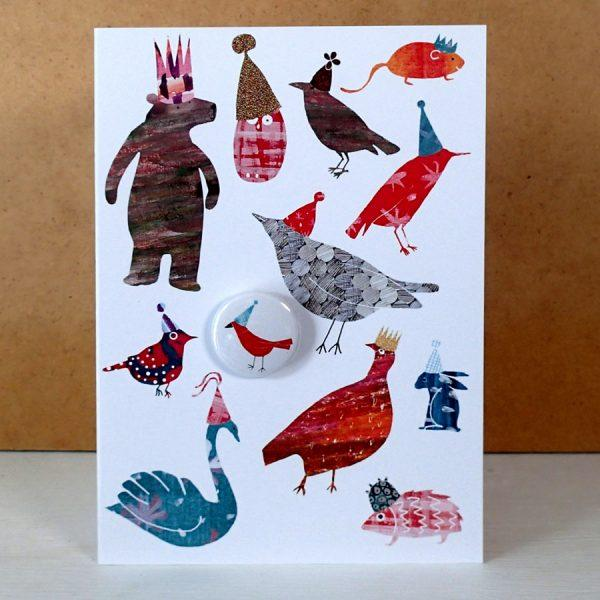 Party Hats Badge Card by Lindsay Marsden
