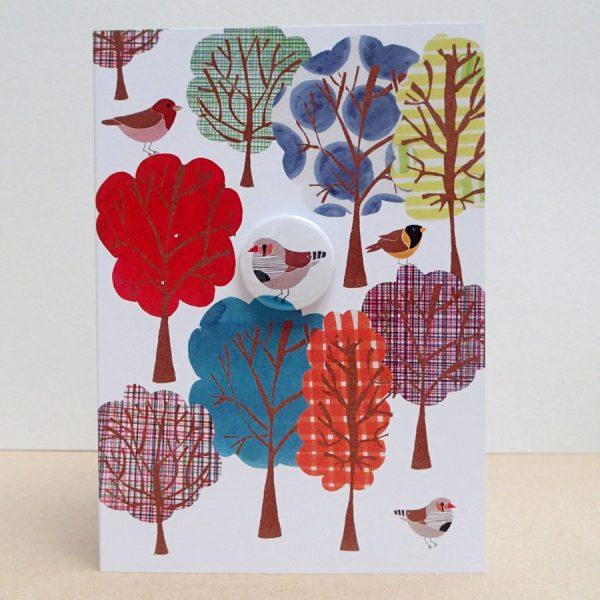 Pattern Forest Badge Card by Lindsay Marsden