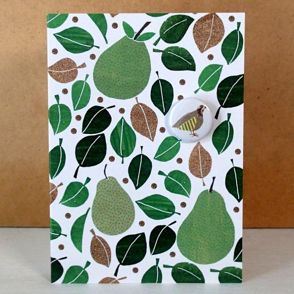 Pear tree and partridge badge card