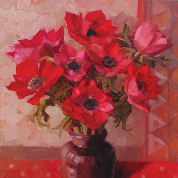 Red Anemones by Anne Marie Butlin