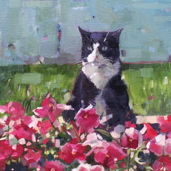Ringo and Pansies by Anne Marie Butlin