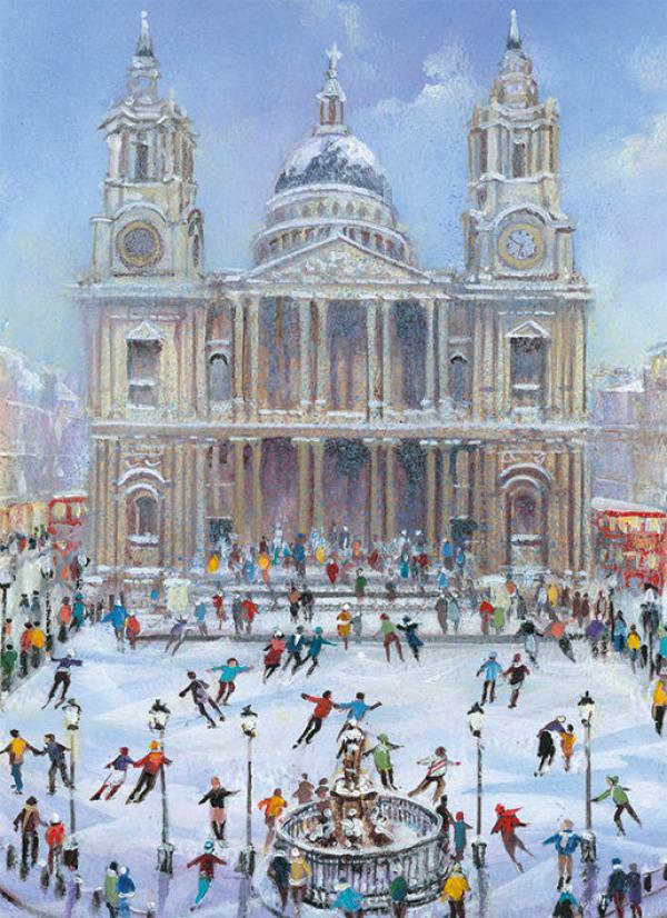 Skating at St Pauls by Gordon Lees