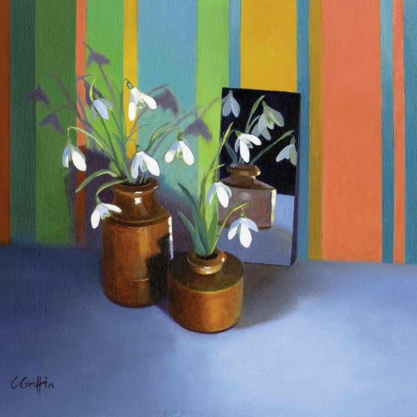 Snowdrops and Stripes by Carole Griffin