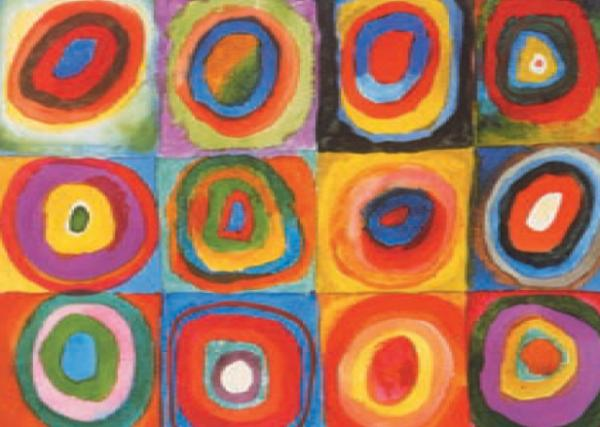 Squares Concentric Circles by Wassily Kandinsky