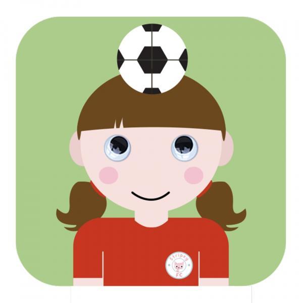 Stripey FC Girl by Jonathan Crosby