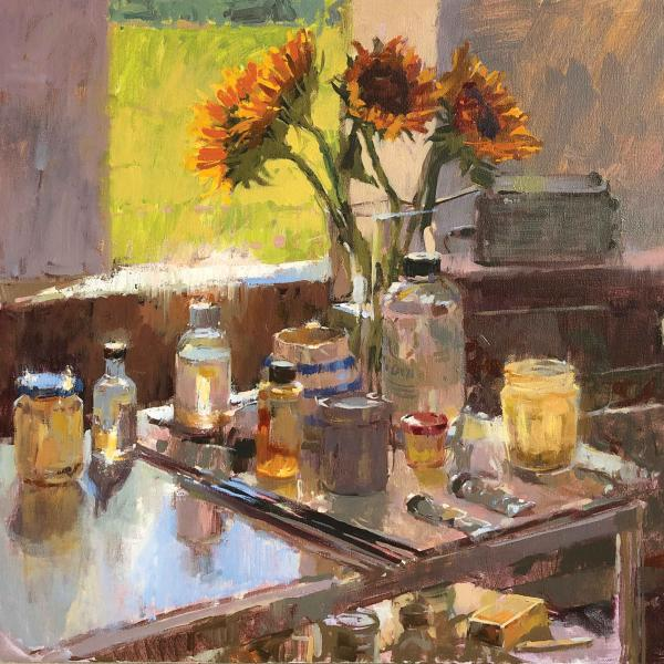Sunflowers in the Studio by Haidee-Jo Summers