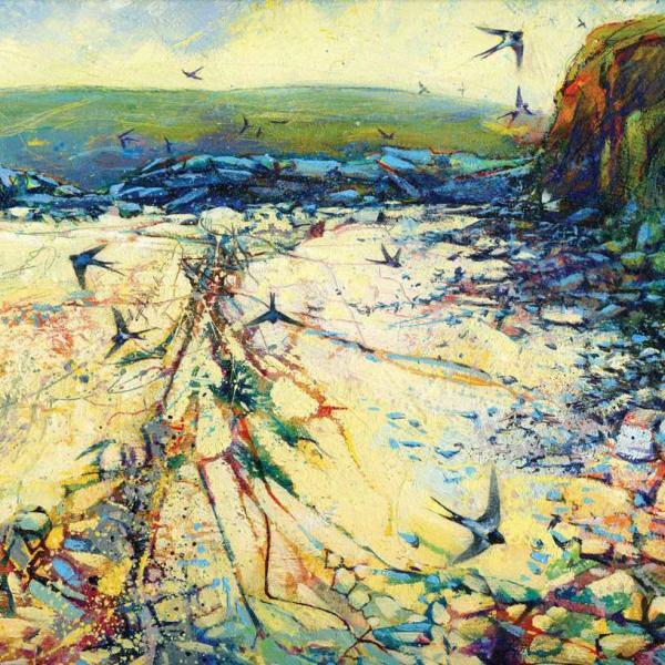 Swallows Down The Beach by Daniel Cole