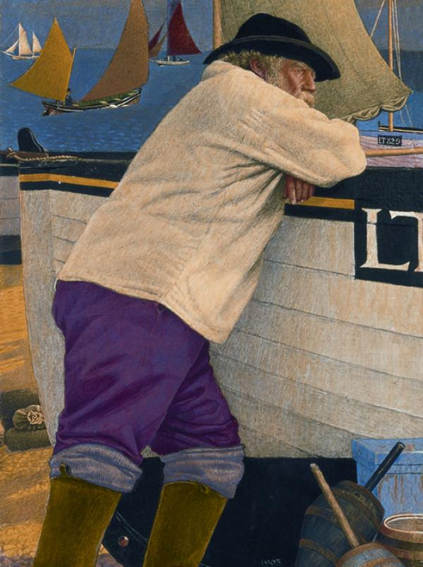 The Old Fisherman by Joseph Southall