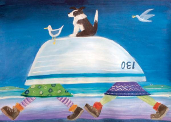 Two Women and a Boat by Sheena Graham-George