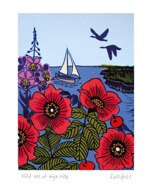 Wild Rose at High Tide by Kate Heiss