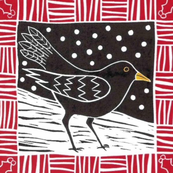 Winter Blackbird by Anna Pye