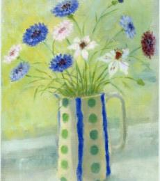 Cornflowers and Love-in-the-Mist by Lindsay Bartholomew